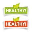 Healthy label set vector image