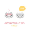 international cat day card vector image vector image
