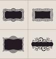Label frames elegant border set Floral banner vector image vector image