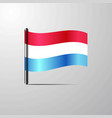 luxembourg waving shiny flag design vector image