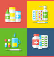Medicines isolated objects vector image vector image