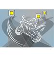 motobike racing vector image vector image