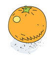 orange cartoon hand drawn image vector image