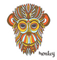 Ornamental monkey a symbol of New Year 2016 ethnic vector image vector image
