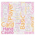 Play Blackjack Like a Pro text background vector image vector image