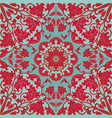 red and turquoise floral pattern vector image vector image