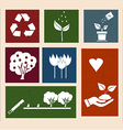 retro labels with ecology signs and icons vector image vector image