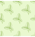 Seamless pattern with green clover vector image vector image
