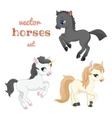 Set of horses in action vector image vector image
