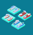 ships isometric design concept vector image vector image