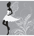 Silhouette of beautiful fairy vector image vector image