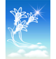 sky and flowers vector image