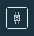 smart watch icon line symbol premium quality vector image vector image