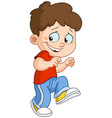 sneaking boy vector image vector image