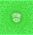 spring mood vector image vector image
