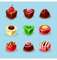 Sweets and Candies Icons vector image