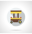 Takeaway food cart flat color design icon vector image