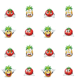 tomato and pineapple vector image
