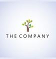 tree logo ideas design on background vector image vector image