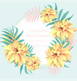 tropical paradise floral card summerl vector image vector image