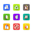 various recycle waste management set vector image
