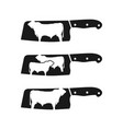 vintage farm logo and angus cattle cutting vector image vector image