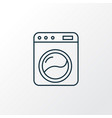 washing machine icon line symbol premium quality vector image