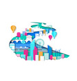 ways modern eco friendly city development vector image vector image