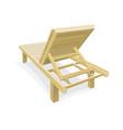 wooden beach chair vector image vector image