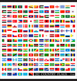 world flags all color isolated vector image vector image