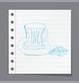 sketch - cup of coffee vector image