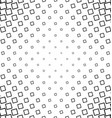 Abstract black white angular square pattern design vector image vector image