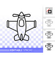 airplane toy simple black line icon vector image