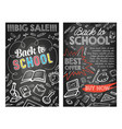back to school stationery sale offer poster vector image vector image