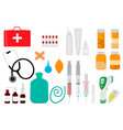 big colored set different types medication of vector image