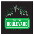 boulevard vector image vector image