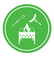 Brazier zephyr and sausage icon