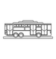 bus sideview icon imag vector image vector image