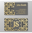 Business card template gold arabic pattern vector image vector image