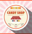 Candy Shop Retro Pink Label vector image vector image