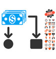 cashflow icon with dating bonus vector image vector image