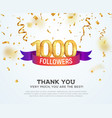 celebrating 1000 followers with color bright vector image vector image