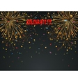 Celebration background with fireworks and colorful vector image vector image