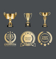 champion prizes collection vector image vector image