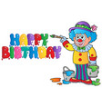 clown theme picture 8 vector image vector image