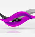 Colorful wave lines in white and grey 3d