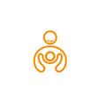 creative person kid logo vector image