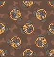 cute bulldog seamless pattern vector image vector image