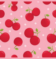 cute seamless pattern with cherry vector image