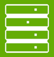 database icon green vector image